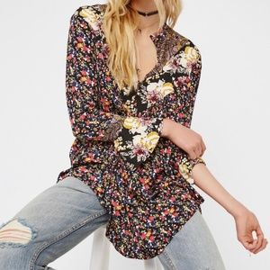 Free People Wildflower Fields Floral Tunic